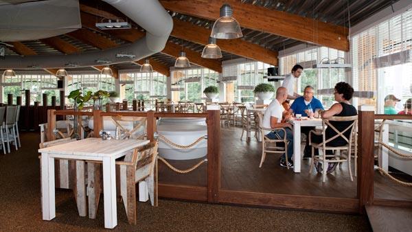 In het restaurant