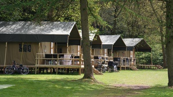 Aanzicht campeertenten