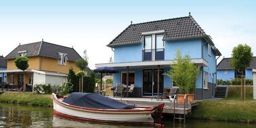 Huisjes aan het water