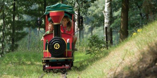 Met het treintje