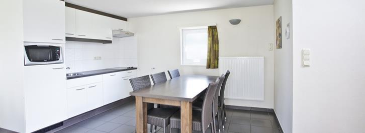 Woonkamer en keuken bungalow