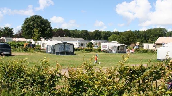 Aanzicht campingplaatsen