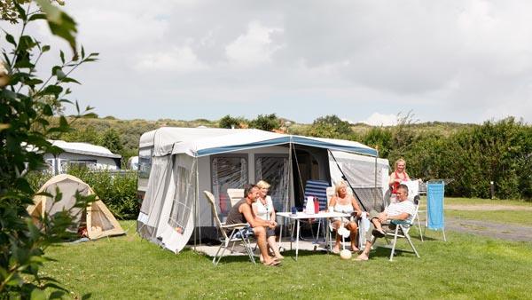 Campeerplaats aan de duinen